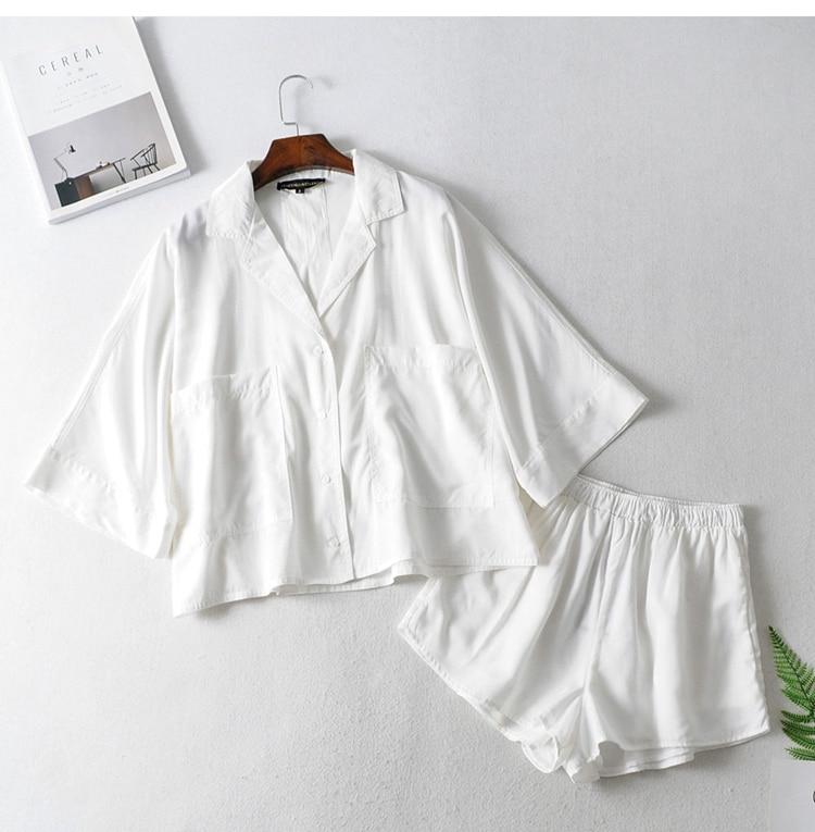 2020 Temperament Ladies Fashion Drape Shirt + Short Shirt Women Blouse Shirt Modis Vadiming Sheiner Zaraing Women Blouse Kimono