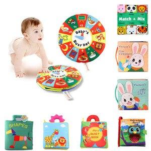 Детские игрушки, детские книги для раннего развития, тканевые книги для детей, Обучающие Развивающие книги DS19