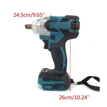 18V Electric Brushless Impact Wrench Rechargeable 1/2 Socket Wrench LED Light