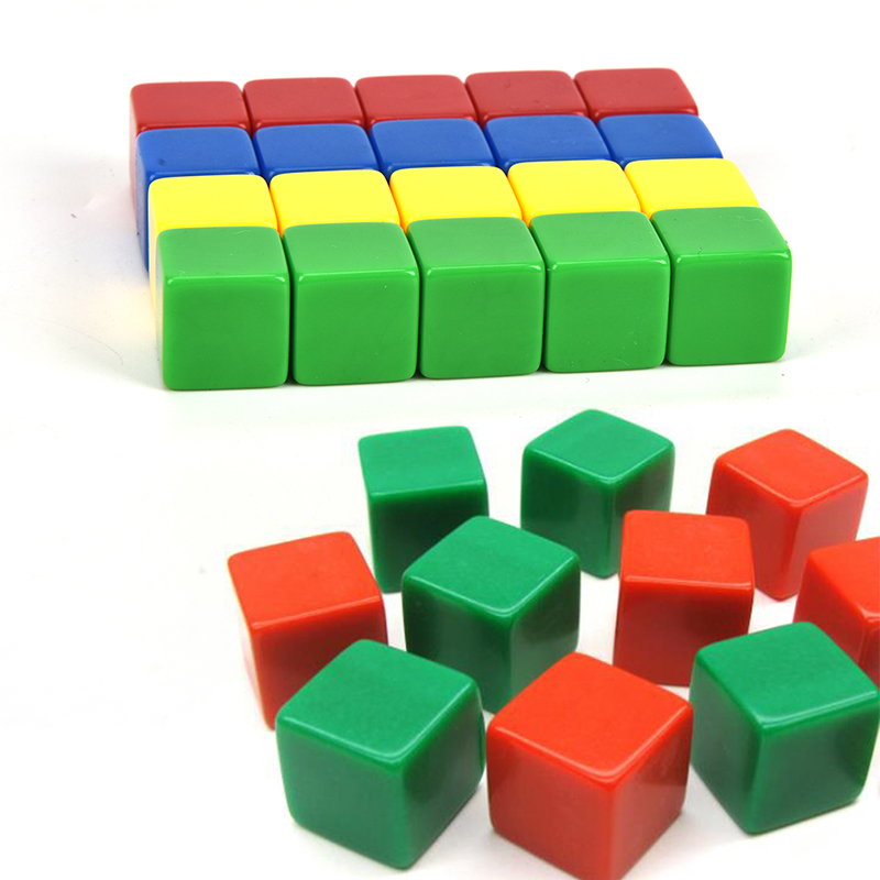 16MM Blank Dice Ktv Dice Paintless Plain Engravable DIY Poker Gambling Dice Chess Board Game Teaching Dice Random Color