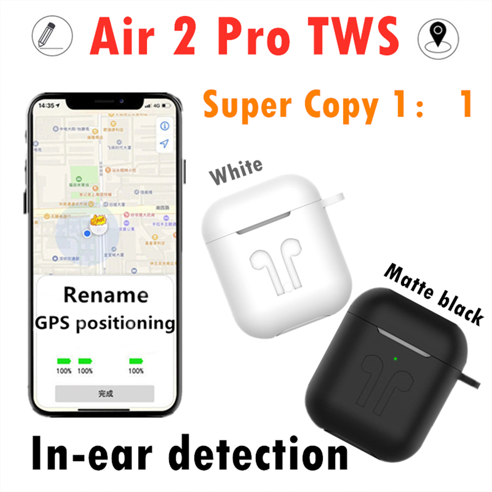 Original Air 2 Pro TWS wireless Bluetooth earphone 9D Super Bass smart sensor pk i9000 MAX i9000X i90000 pro i100000 tws image