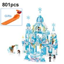 QL1143 Girl Series Princess Ice Castle Building Blocks Set Kids Assembling Brick Compatible Friend Model Toys For Children все цены
