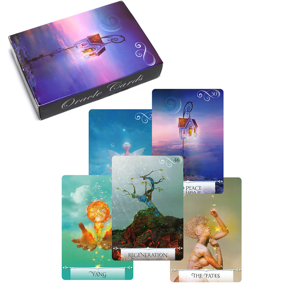 2019 Wisdom Oracle Cards 52 Cards Tarot Deck Guidance English Read Fate Card Game Board Games