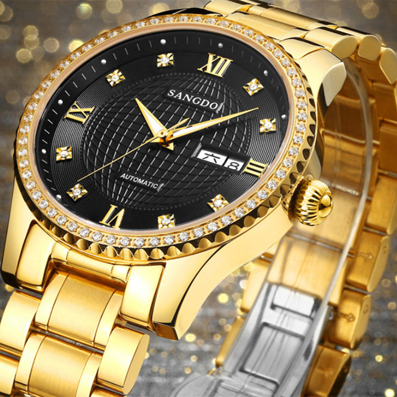 New Brand Businessmen Official Statement Watches Automatic Self-wind Stainless Steel Watch Mechanical Crystals Dress Wrist watch