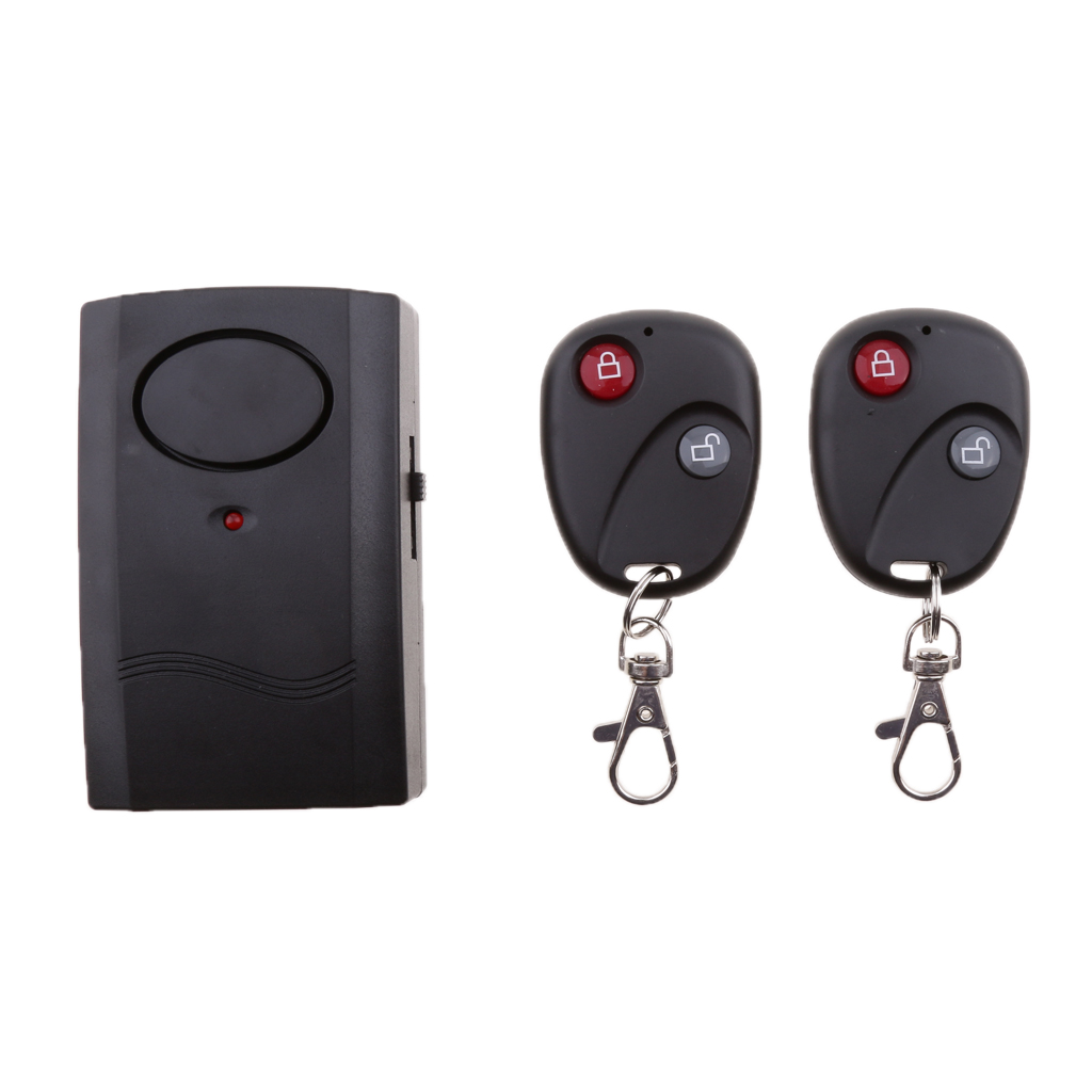 Wireless Vibration Alarm System Anti-Theft With Remote Control For Bike/Motorcycle/Vehicle Door And Window, 120db Loud