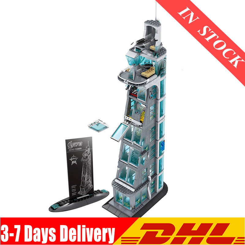 IN Stock 1206 PCS Sh678 Attack on Avengers Towe 7th Floor Building Blocks Figures Compatible <font><b>76038</b></font> Bricks Avenger Tower image