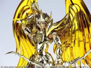 Image 4 - Modelo fãs em estoque gt grandes brinquedos sog ex sagitário aiolos alma de ouro saint seiya metal armadura mito pano ouro figura de ação