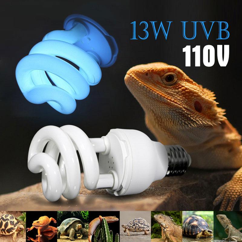 Ultraviolet Energy Saving Lamp 110V Lizard 13W Light E27 Portable Bulb Screw Compressed Light Reptiles Bulb Calcium Turtle