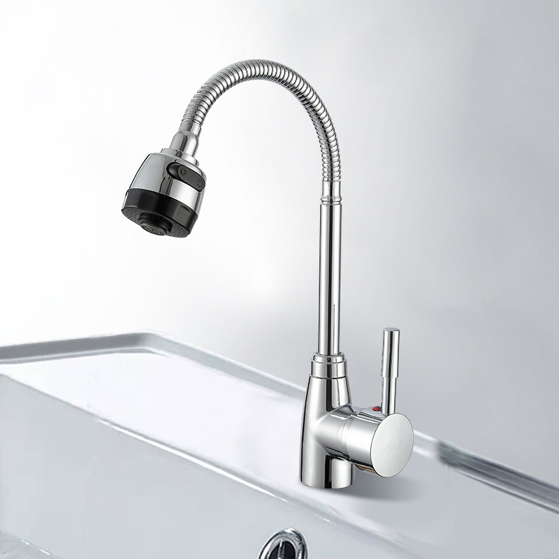 Kitchen Faucet Hot And Cold Water Rotatable Pull Down Single Lever Hole Sink Faucet Home Improvement Kitchen Kitchen Products