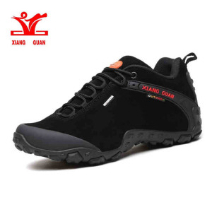XIANG GUAN Men Women Outdoor Hiking shoes Anti-skid Wear resistant low Top lace-up sneakers camping climbing hunting sports boot