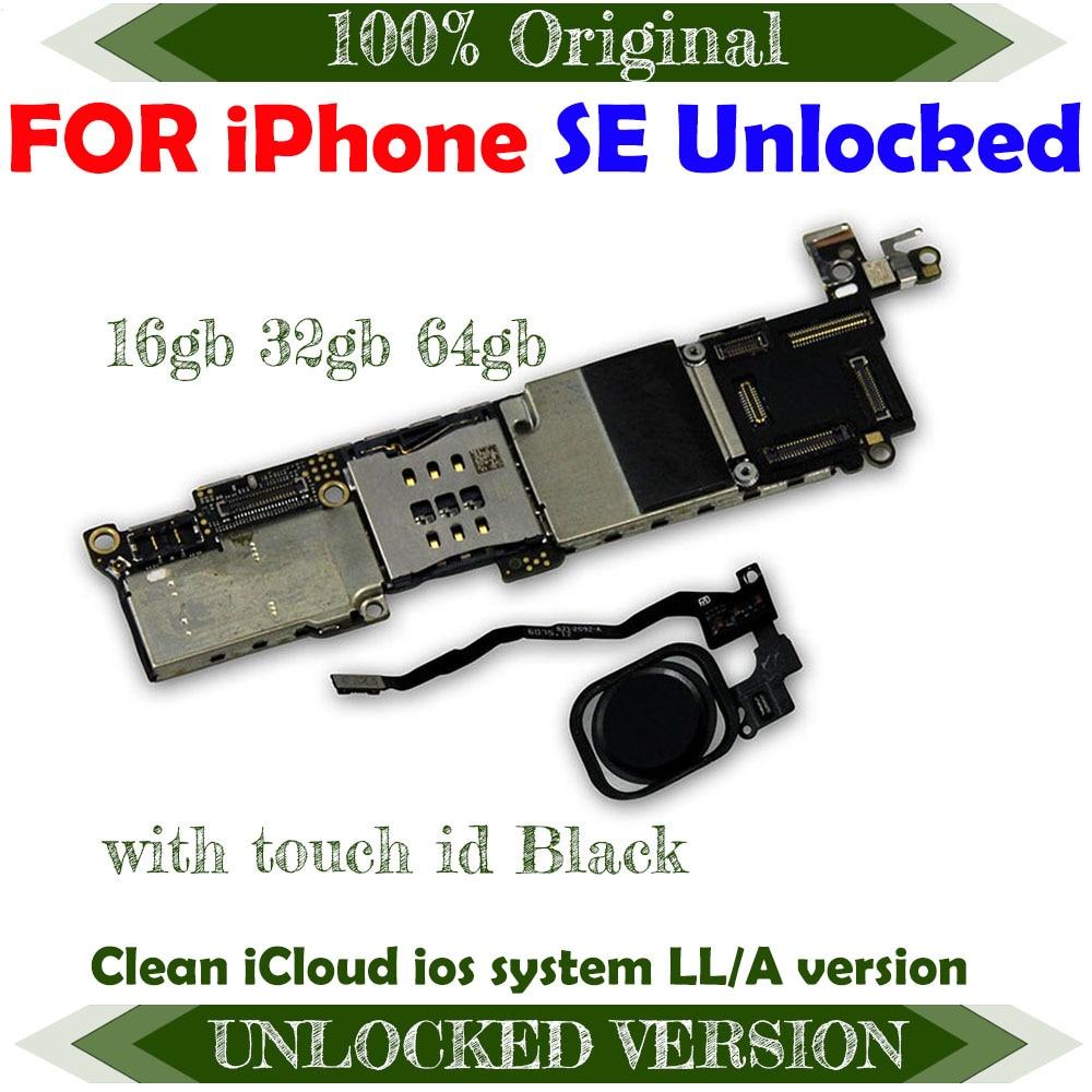 Бесплатная доставка Чистая iCloud разблокированная материнская плата для iphone SE 16 ГБ 32 ГБ 64g100% оригинальная логическая плата IOS с/без Touch ID Антенны для мобильных телефонов      АлиЭкспресс