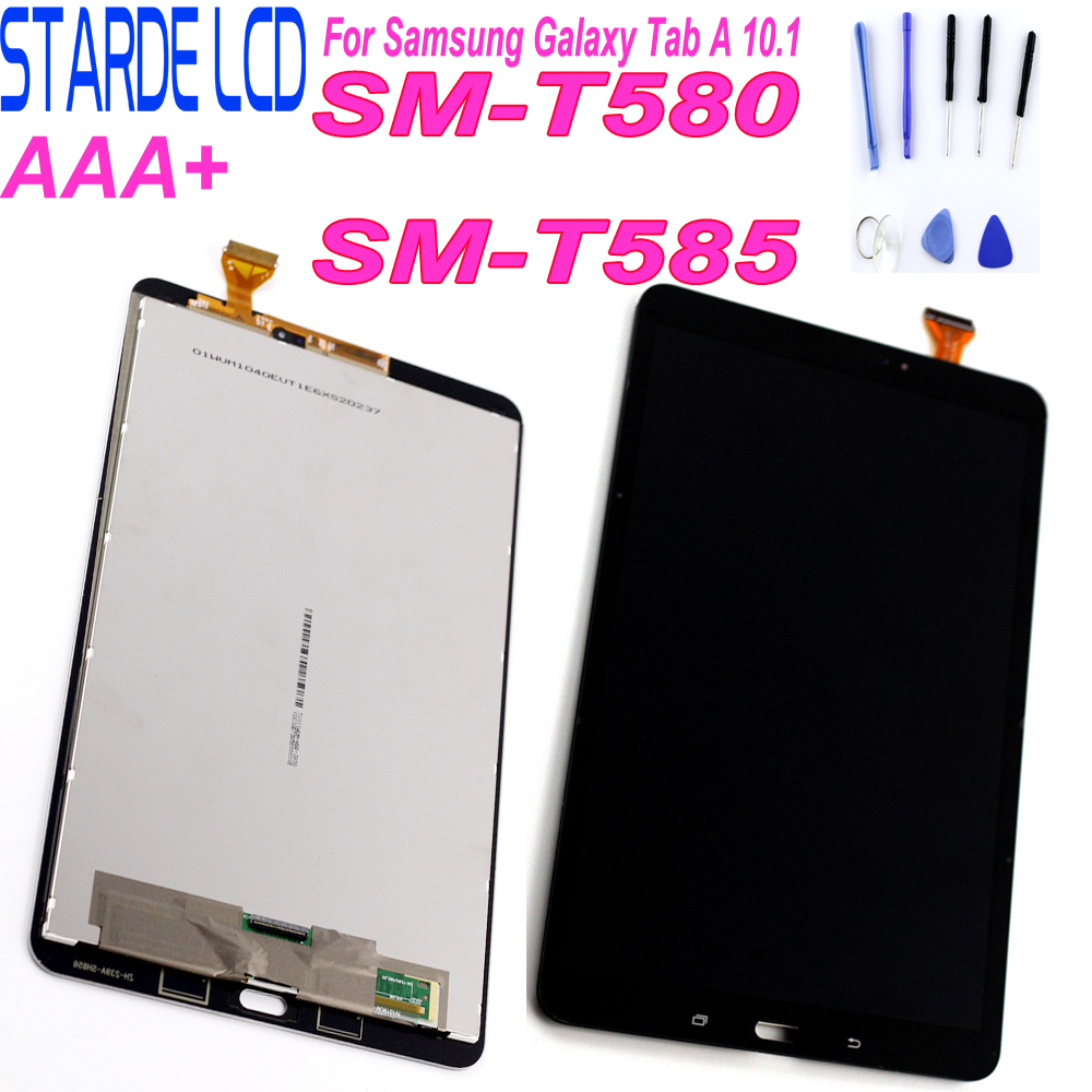STARDE zamiennik LCD do samsunga Galaxy A 10.1 SM-T580 T585 wyświetlacz LCD montaż digitizera ekranu dotykowego czarny biały z narzędziami