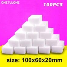 100 pçs esponja de melamina borracha mágica esponja itens domésticos limpeza limpeza esponja para cozinha banheiro ferramentas de limpeza