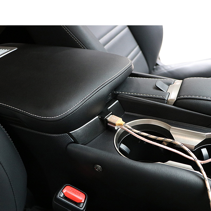 Lsrtw2017 for Lexus NX NX200 300 300h Car Armrest USB Charger Interior Mouldings Accessories 2018 2019 2020 Styling Auto