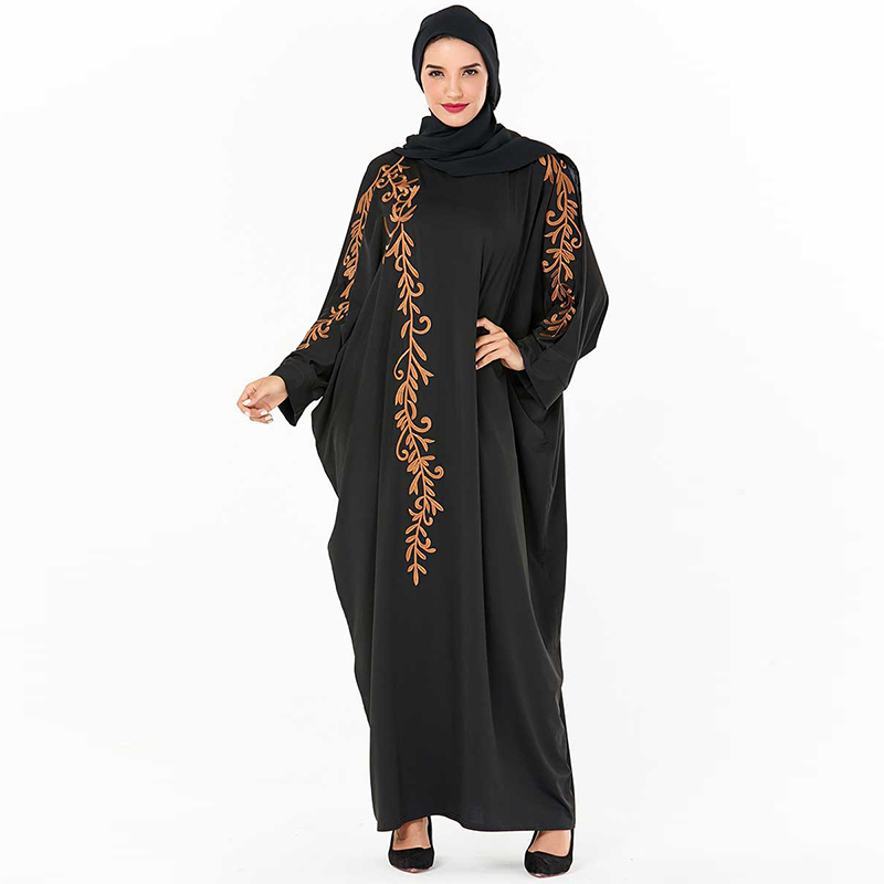Black Abaya Dubai Turkish Hijab Muslim Dress Kaftan Jilbab Islamic Clothing Abayas For Women Caftan Grote Maten Dames Kleding