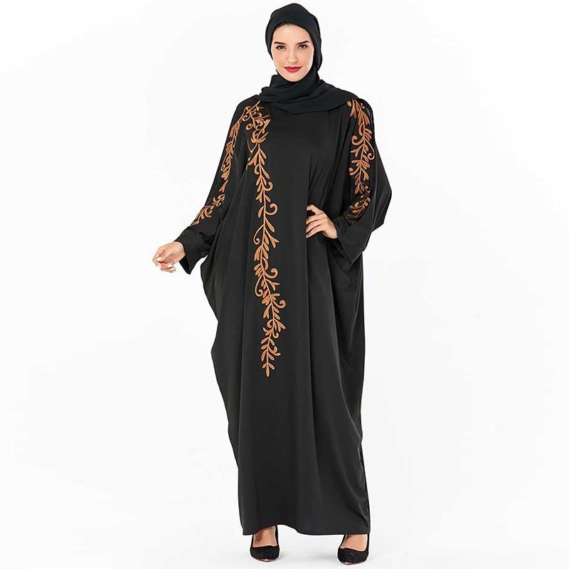 Black Abaya Dubai Turkish Hijab Muslim Dress Kaftan Jilbab Islamic Clothing Abayas For Women Caftan Grote Maten Dames Kleding