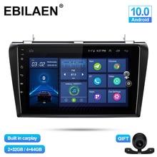 EBILAEN – lecteur multimédia de voiture pour Mazda 3 BK Mazda3 2004 – 2009, Android 10.0, Navigation, Autoradio, enregistreur cassette, GPS, vidéo, stéréo