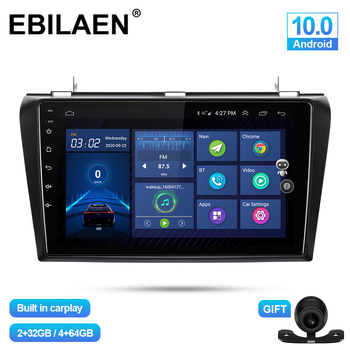 EBILAEN Car Multimedia Player For Mazda 3 BK Mazda3 2004-2009 Android 10.0 Navigation Autoradio Tape Recorder GPS Video Stereo image