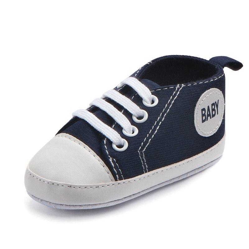 Chaussures bébé Garçon Fille Solide Sneaker Coton Doux Semelle Antidérapante Nouveau-Né Infantile Premiers Marcheurs Bambin décontracté Sport Chaussures de Berceau 37
