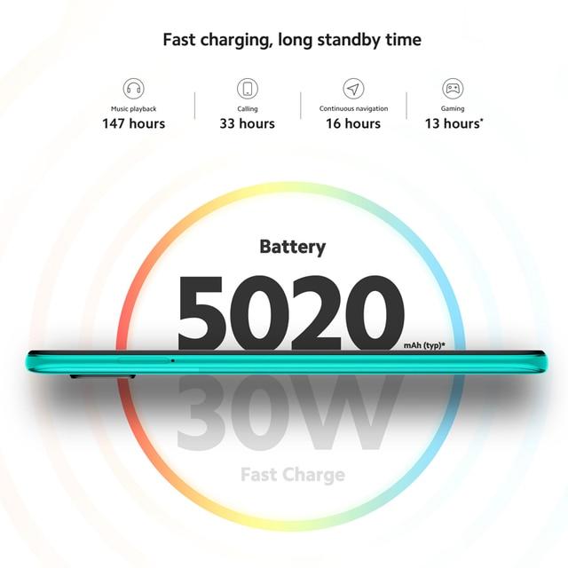 Global Version Xiaomi Redmi Note 9 Pro 6GB 128GB Cellphone Snapdragon 720G 64MP Quad Camera 6.67 5