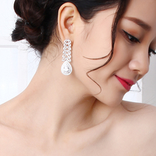 New Big leaf earring best wedding jewelry brincos Luxury accessories top quality white bridal party water drop earrings