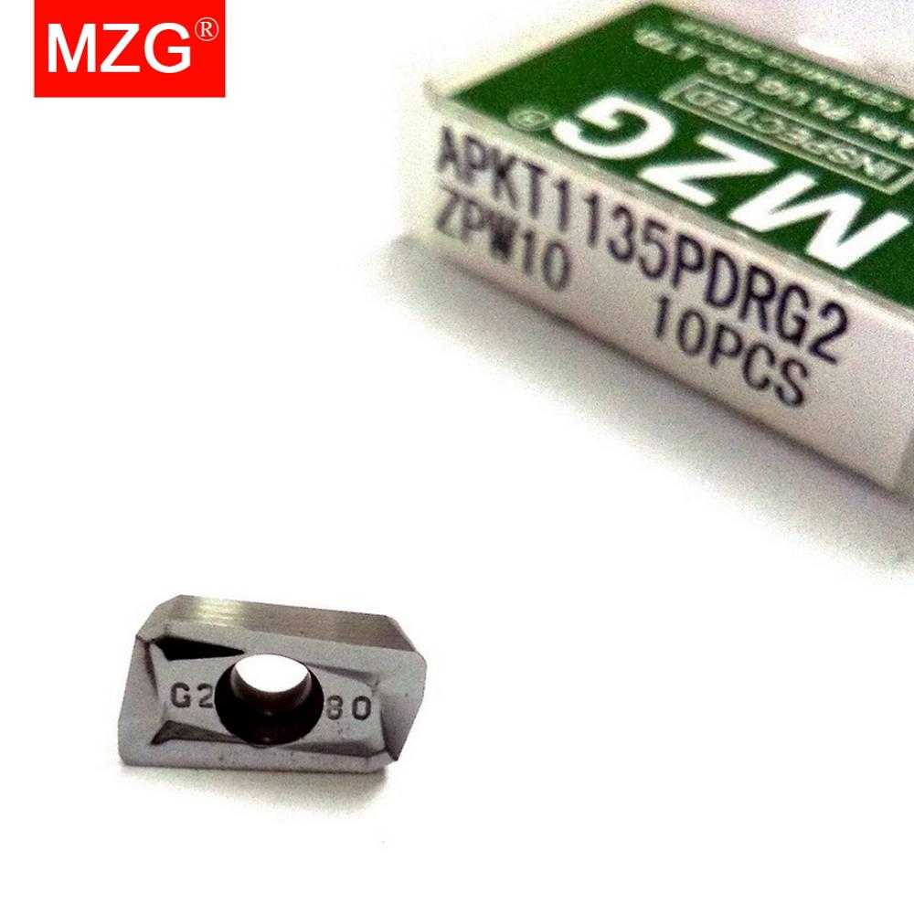 Купить с кэшбэком MZG APKT1135PDFRG2 APKT1604PDFRG2 ZPW10 Aluminum Solid Tungsten Carbide Milling Cutter Inserts