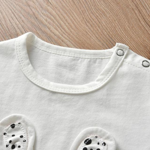 Baby Girl's Printed Sweatshirt, Pants and Headband 3 Pcs Set 3