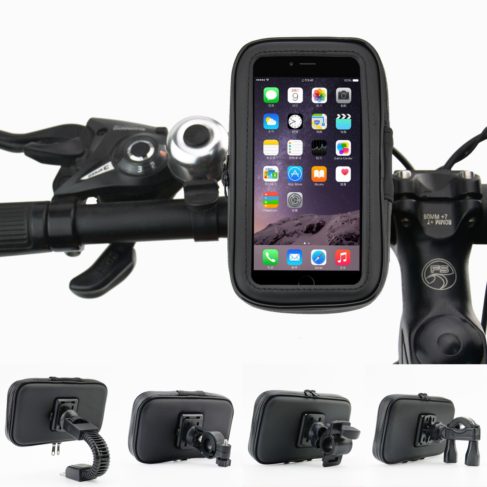 <font><b>Bicycle</b></font> Phone <font><b>Holder</b></font> Waterproof Universal Phone <font><b>Holder</b></font> For Bike <font><b>Bicycle</b></font> Motorcycle Handlebar Mobile <font><b>Smartphone</b></font> Support image