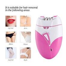 Máquina depiladora profesional recargable por USB para mujer, afeitadora manual para cuerpo, cara, pierna, Bikini, depilación