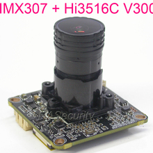 """Объектив F0.95 H.265 2MP, 3MP 1/2. """" Sony starvis IMX307 CMOS сенсор+ Hi3516C V300 CCTV IP камера Модуль платы блока программного управления+ кабель LAN"""
