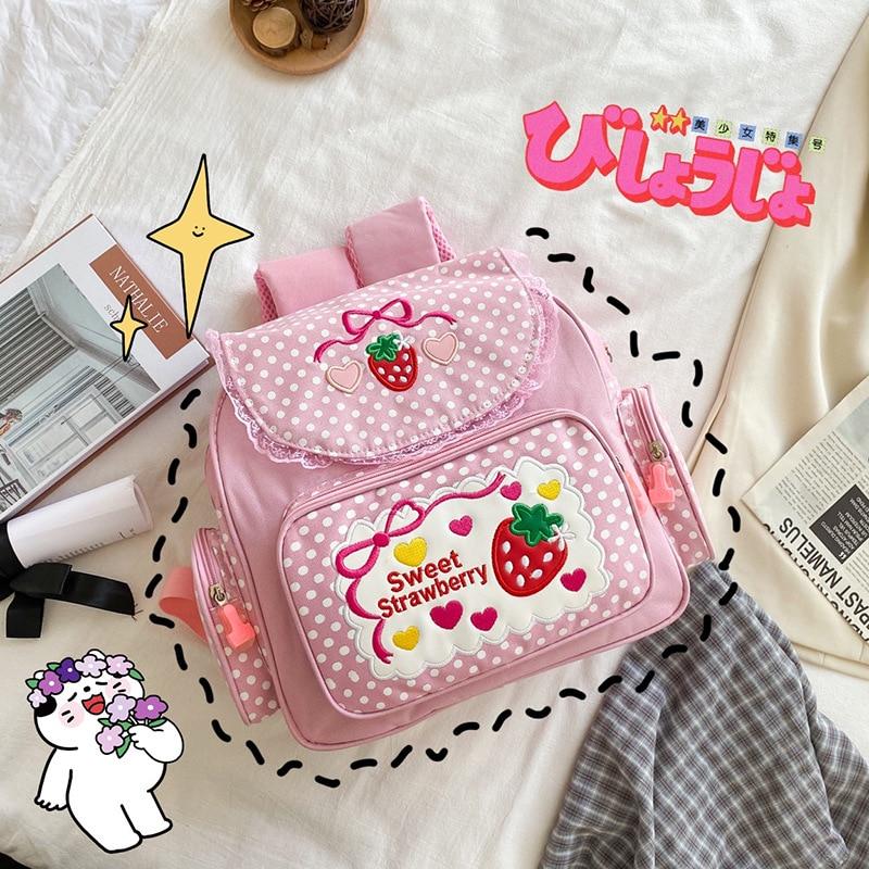 Kawaii Strawberry School Backpack