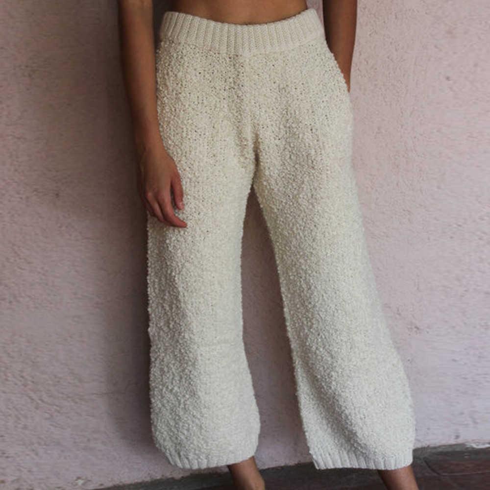 Pantalones Recortados De Otono E Invierno Para Mujer Pantalones De Franela A La Moda Para Mujer Pantalones Ajustados A La Cintura De Color Solido Para Mujer Pantalones Y Pantalones Capri Aliexpress