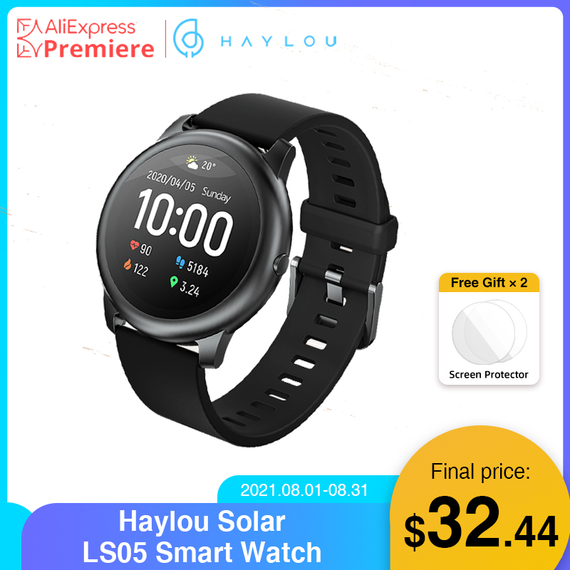 Haylou Solar LS05 Smart Watch Sport Metal Heart Rate Sleep Monitor IP68 Waterproof iOS Android Global Version for Xiaomi YouPin Smart Watches  - AliExpress
