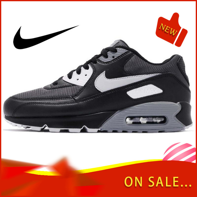 Original Authentic NIKE AIR MAX 90 ESSENTIAL Men's Running Shoes Classic Outdoor Sports Trend Breathable 2019 New AJ1285-003