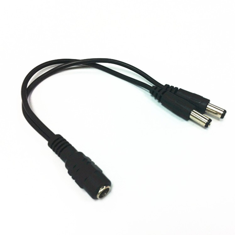 5.5mm X 2.1mm 5.5/2.1mm DC 1 Female To 2 Male 2-way Y Splitter Power Cable Cord For CCTV Camera Security