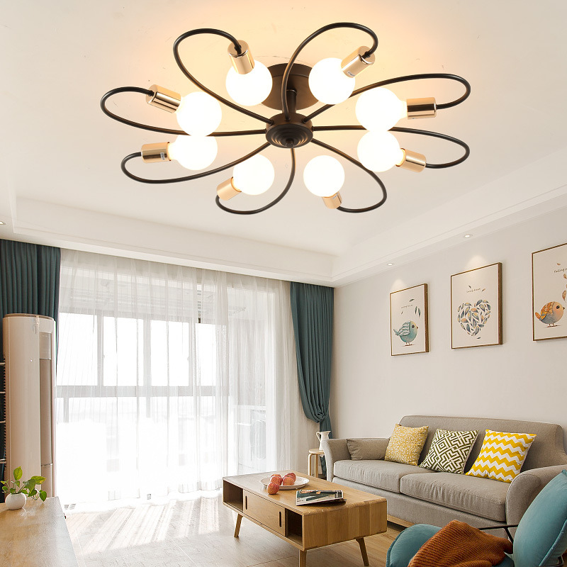 Northern European-Style Lamps Bedroom Lamp American Simple Modern Small Bedroom Creative Cool Small Apartment Living Room Lights