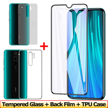 Front + Back Screen Protector for Xiaomi Redmi Note 8 Pro Tempered Glass Redmi Note 8 Pro Glass Film TPU Case Redmi-Note-8 Glass цена