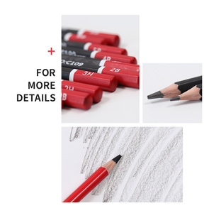 Image 5 - 29pcs Sketch Pencil Set Professional Sketching Drawing Kit Wood Pencil Pencil Iron box For Painter School Students Art Supplies
