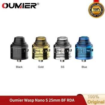 OUMIER WASP NANO S – atomiseur RDA avec réservoir de 25mm de diamètre et double Post-construit, 5mm de profondeur, pour E-cigarette Vs Zeus X