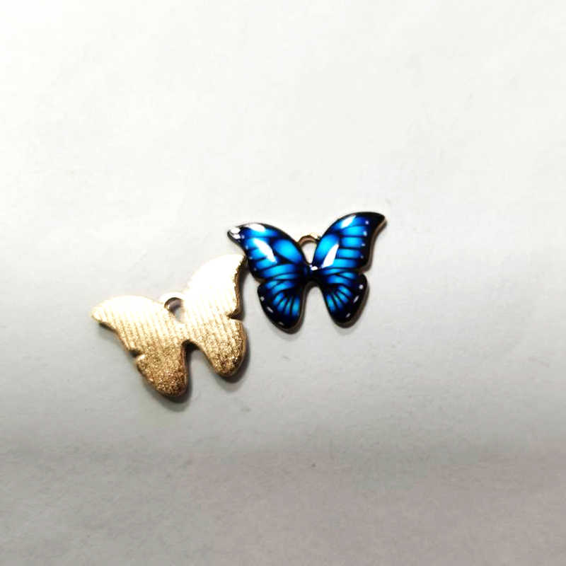 13pcs Alloy Animal Butterfly Pendant Charms Necklace Jewelry DIY Findings