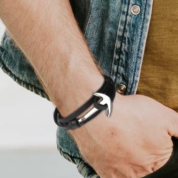 bracelet ancre argent