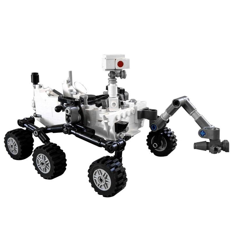 Diy estação espacial foguete lunar lander curiosidade rover shuttle navio modelo blocos de construção tijolos lepined brinquedos para crianças presentes