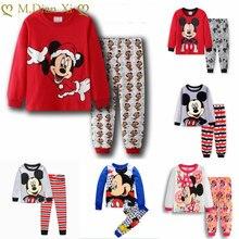Çocuk pijamaları çocuk pijama bebek setleri erkek kız karikatür Minnie pijama pijama pamuk kıyafeti giysileri çocuk giyim