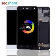 """5.0 """"Originele Voor Xiaomi Mi 4 Lcd Touch Screen Digitizer Vergadering Voor Xiaomi Mi4 Display Met Frame Vervanging M4 dual Screen"""