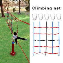 Playground Climbing Net Kids Chidren Durable Jungle Ninja Obstacle Courses Climbing Net With Triangular Hook Fitness Training