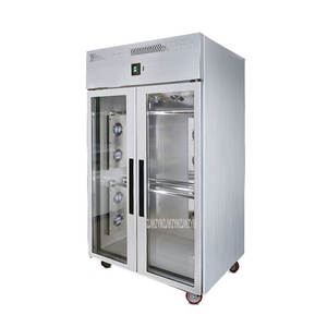 Cabinet Duck-Display Double-Door Air-Cooling-Drying-Cabinet Goose Chicken Stainless-Steel
