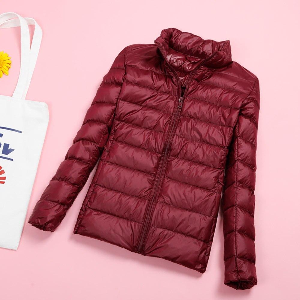 2019 Autumn Winter Women's   Jacket   Down Coat Female Ultra-Light 90% White Duck Parka Warm Pink Black   Basic     Jackets   Female Outwear