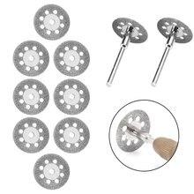 12Pcs/set 20/22/25 Dremel Accessories Diamond Grinding Wheel Saw Circular Cutting Discs Dremel Rotary Tools Diamond Discs