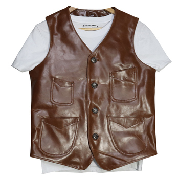 2019 Men Genuine Leather Clearance Vest Casual Multi-pocket single-breasted Cowhide Slim Jacket Vests L-XXXXL Free Shipping