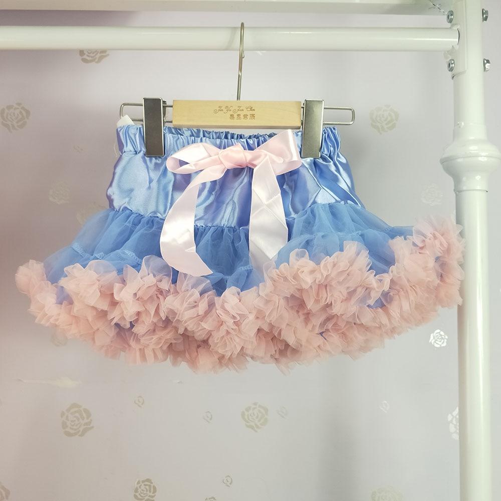 Детская юбка-пачка для девочек; пышная юбка-американка; распродажа - Цвет: Небесно-голубой